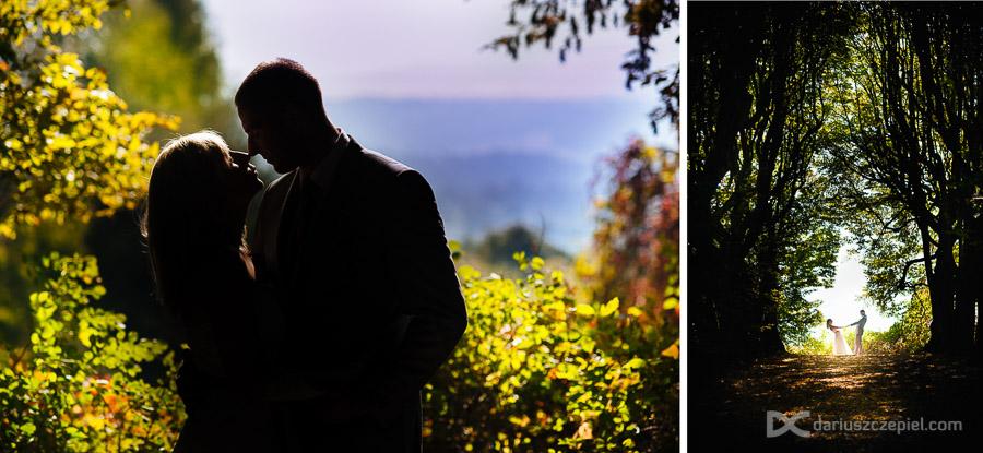 plenerowa sesja ślubna w parku