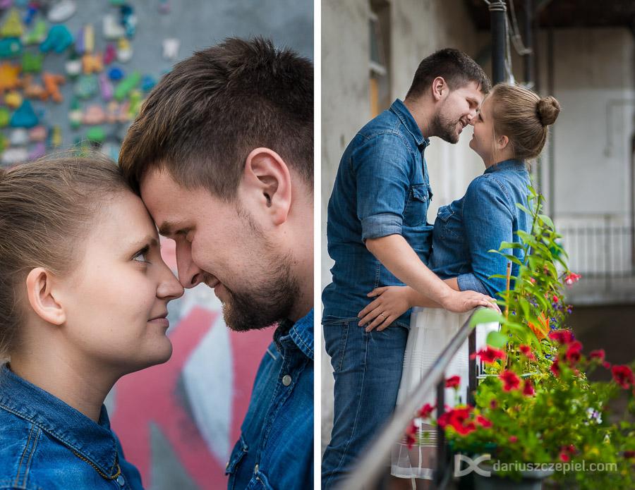 pocałunki podczas sesji zdjęciowej