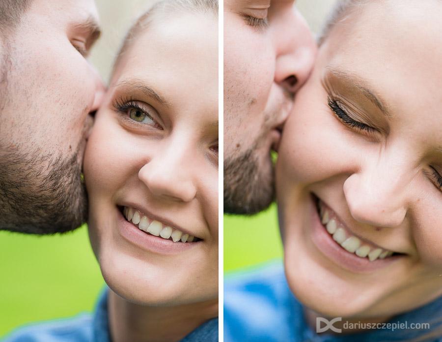 buziaki i broda podczas sesji narzeczeńskiej