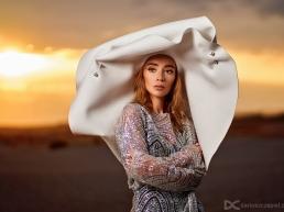 sesja portretowa na pustyni bledowskiej pozowala ola dobek