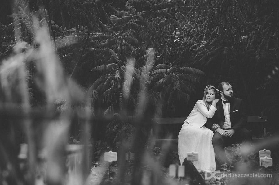 sesja zdjęciowa w ogrodzie botanicznym