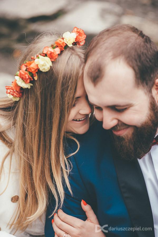 jesienna sesja plenerowa ślubna