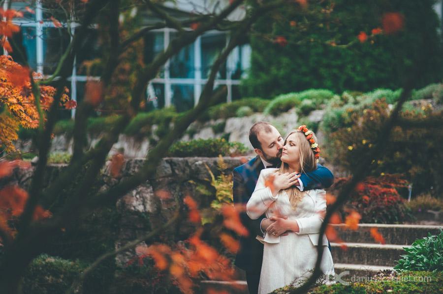 plener ślubny w ogrodzie botanicznym kraków