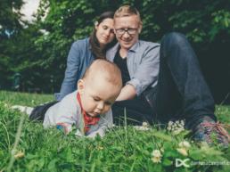 sesja trzyosobowej rodziny