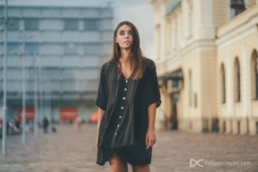 Ukrainian girl posing in Krakow during shoot my travel session