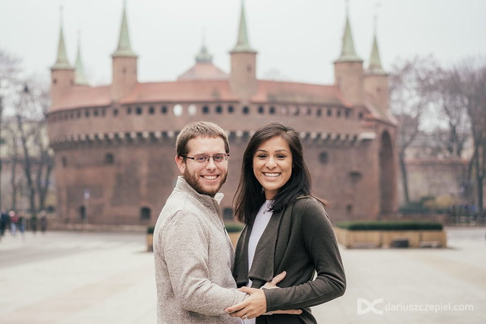 Engagement photo shot by Dariusz Czepiel Fotografia in Krakow for a couple on holidays